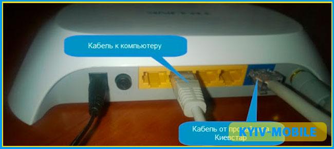 настройка домашній інтернет київстар