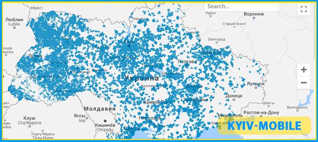 карта покриття 3g київстар