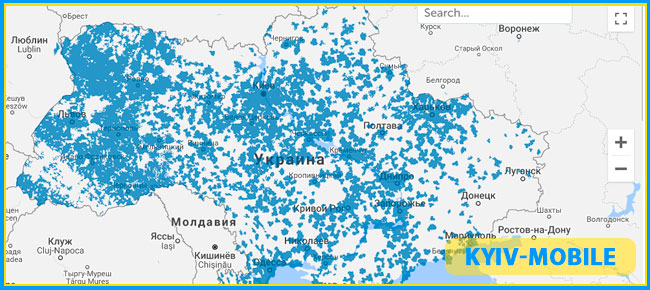 карта покрытия 3g киевстар